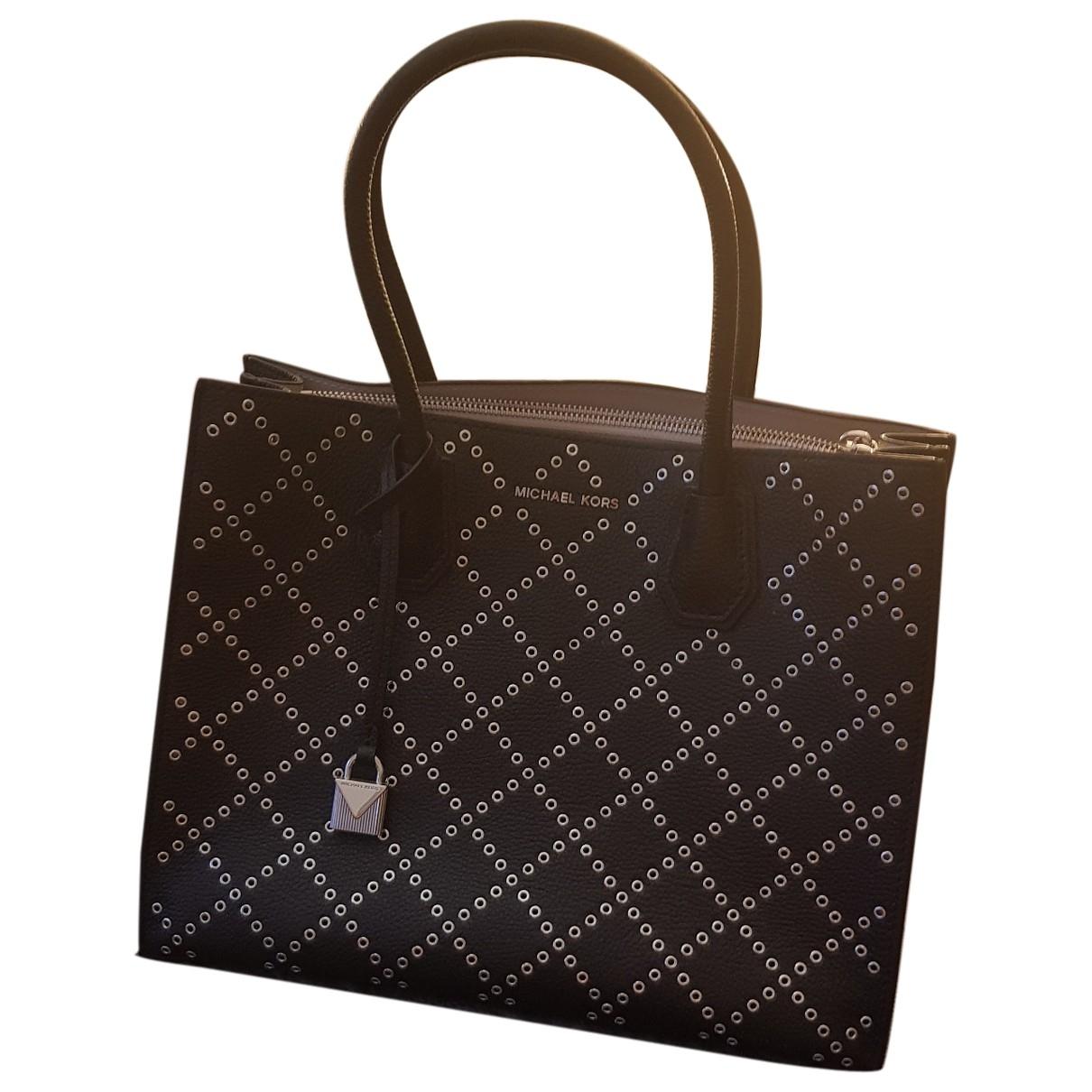 Michael Kors Mercer Black Leather handbag for Women \N