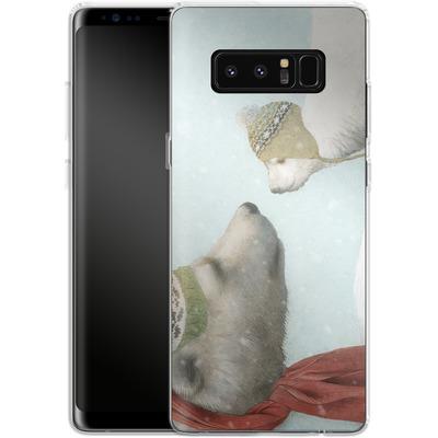 Samsung Galaxy Note 8 Silikon Handyhuelle - First Winter von Eric Fan