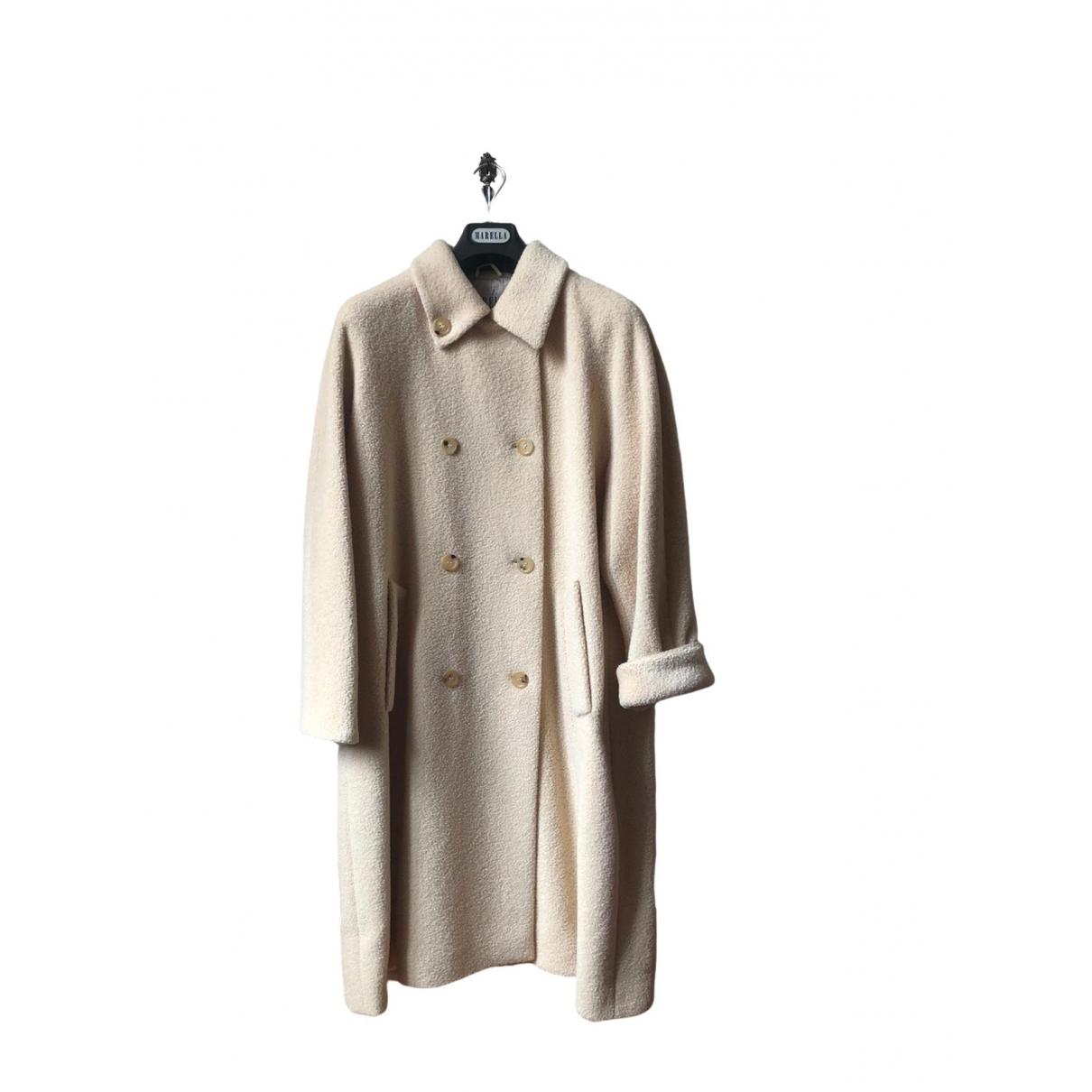 Marella - Manteau   pour femme en laine - beige