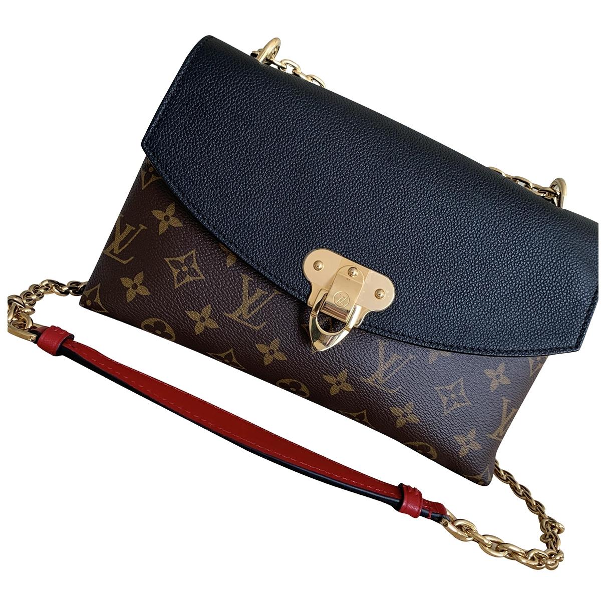 Louis Vuitton Saint Placide Handtasche in  Schwarz Leinen