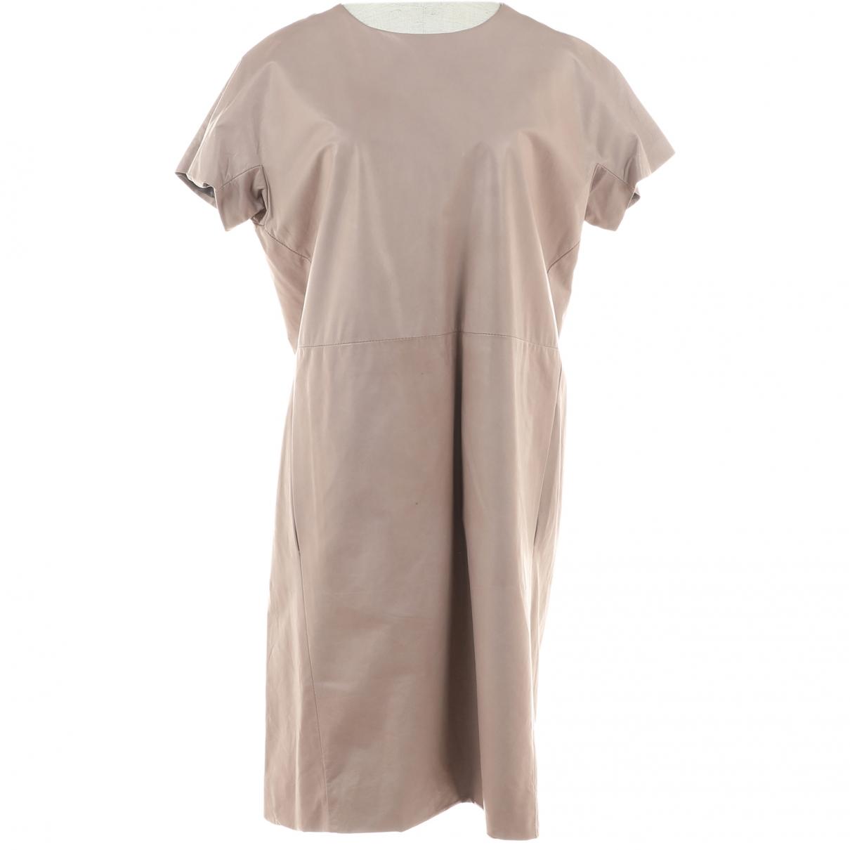 Marni \N Kleid in  Ecru Leder