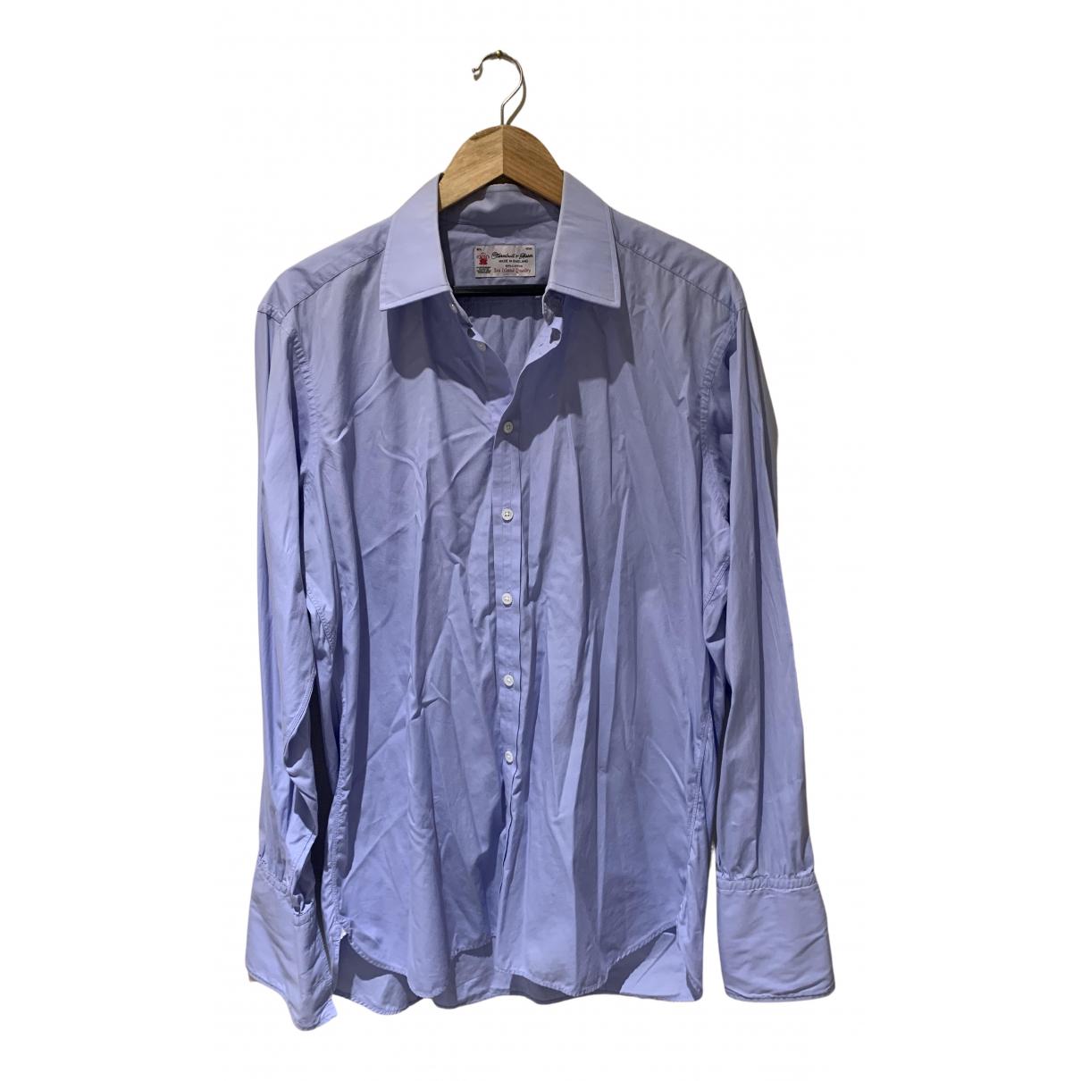 Turnbull & Asser N Blue Cotton Shirts for Men 16.5 UK - US (tour de cou / collar)