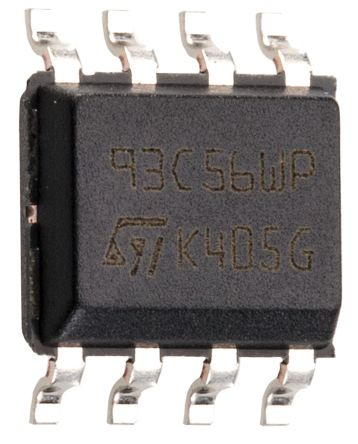 STMicroelectronics M93C56-WMN6TP, 2kbit Serial EEPROM Memory, 200ns 8-Pin SOIC Serial-Microwire (25)