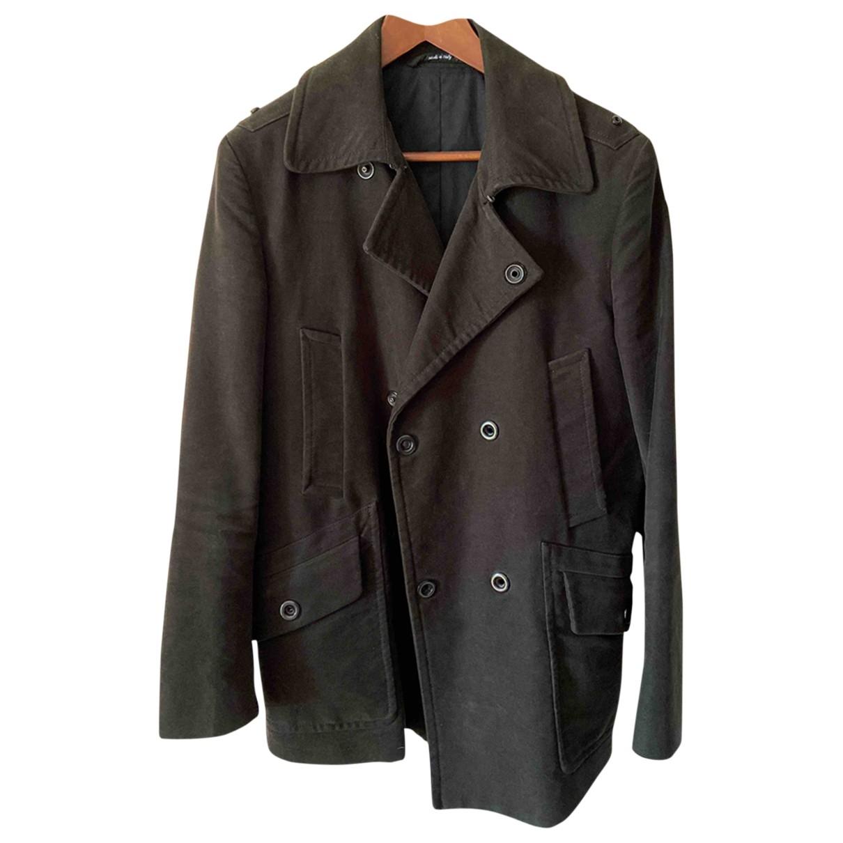 Maison Martin Margiela \N Black Wool coat  for Men 48 IT