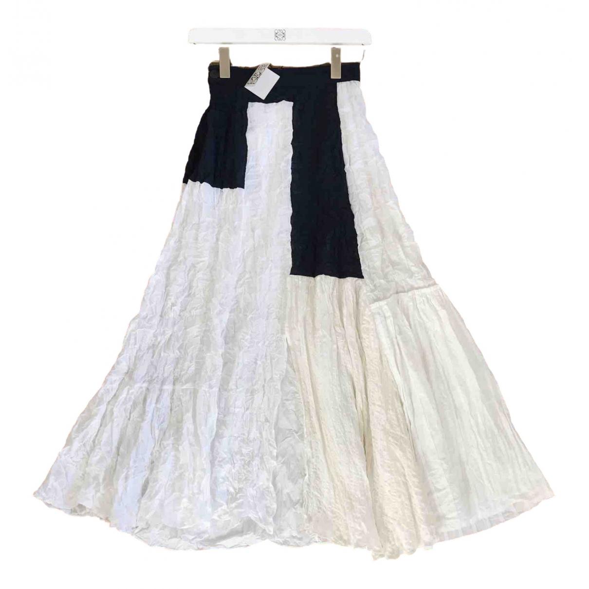 Loewe \N Ecru Cotton skirt for Women 36 FR