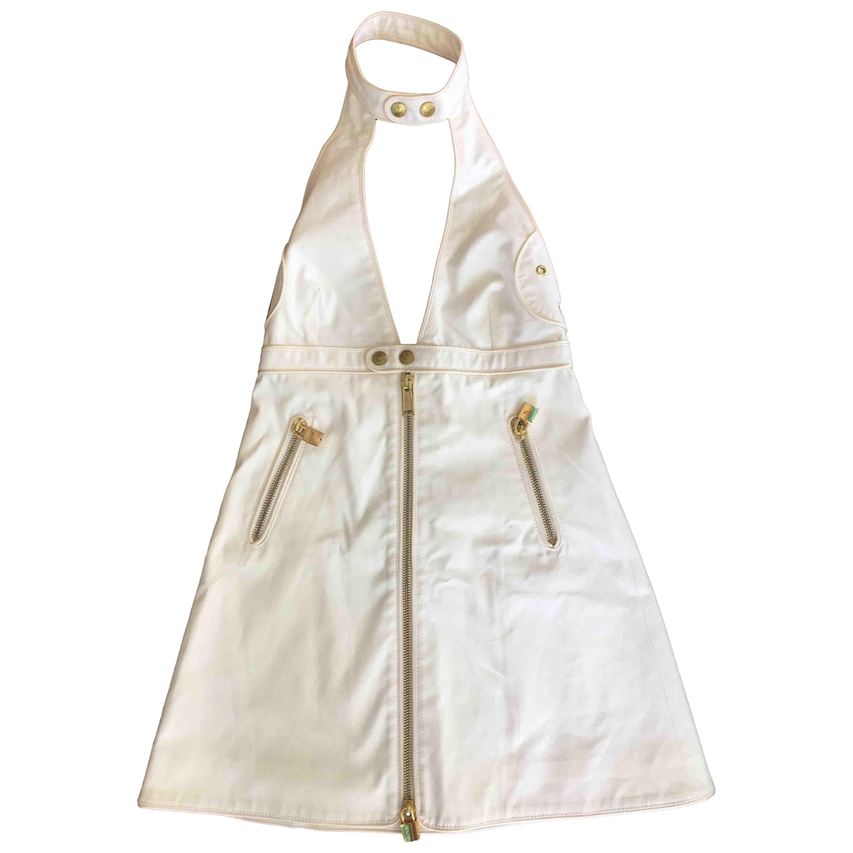 Dsquared2 \N White Cotton dress for Women 40 IT