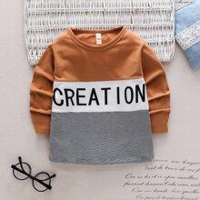 T-Shirt mit Cut und Sew Einsatz und Buchstaben Grafik