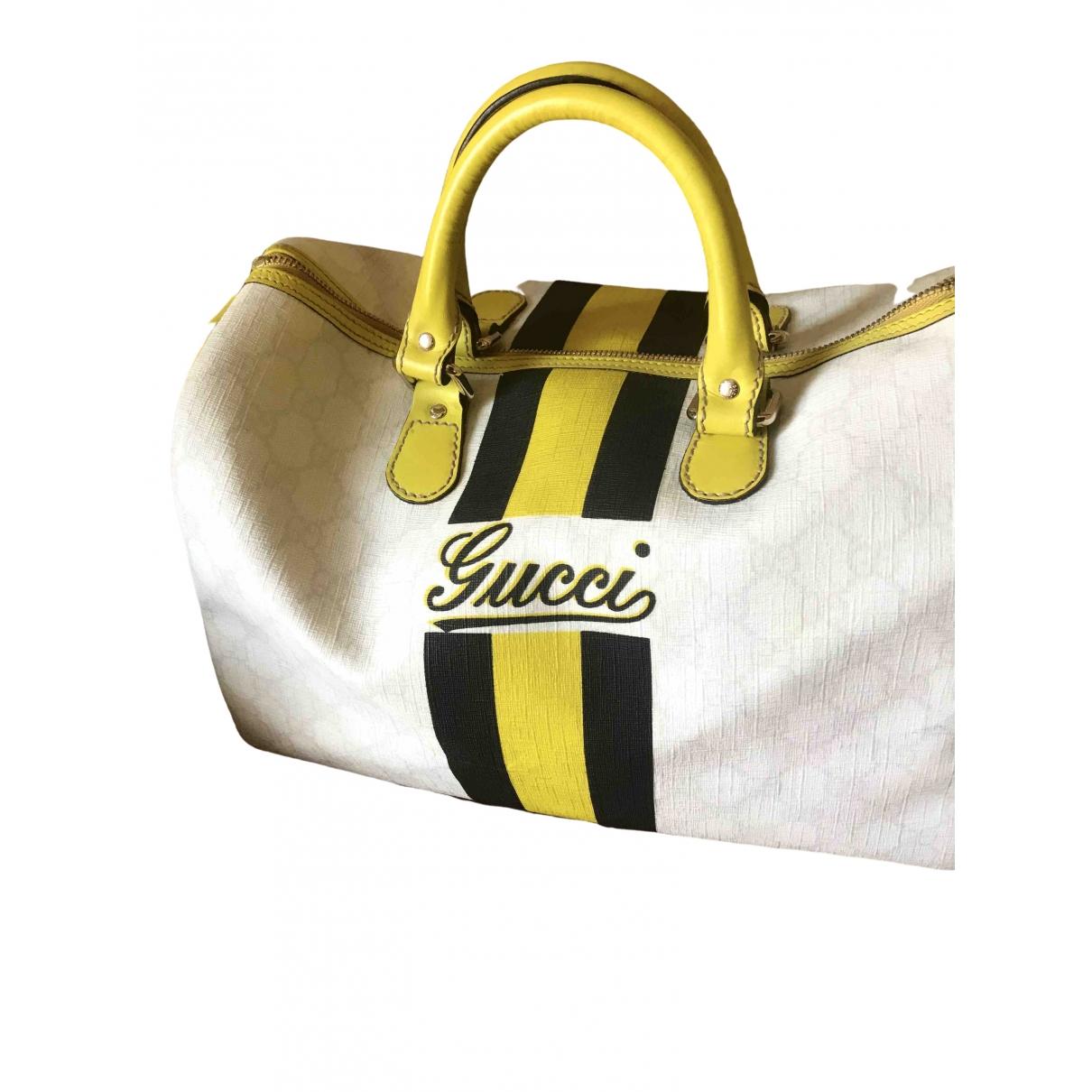 Gucci Boston Handtasche in  Bunt Leinen