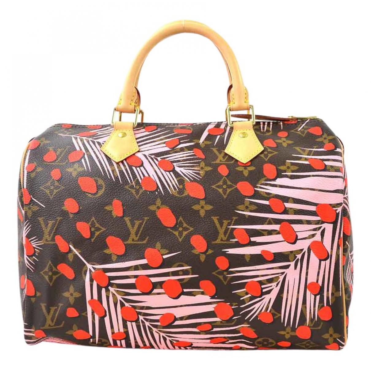 Louis Vuitton Speedy Handtasche in  Bunt Leinen