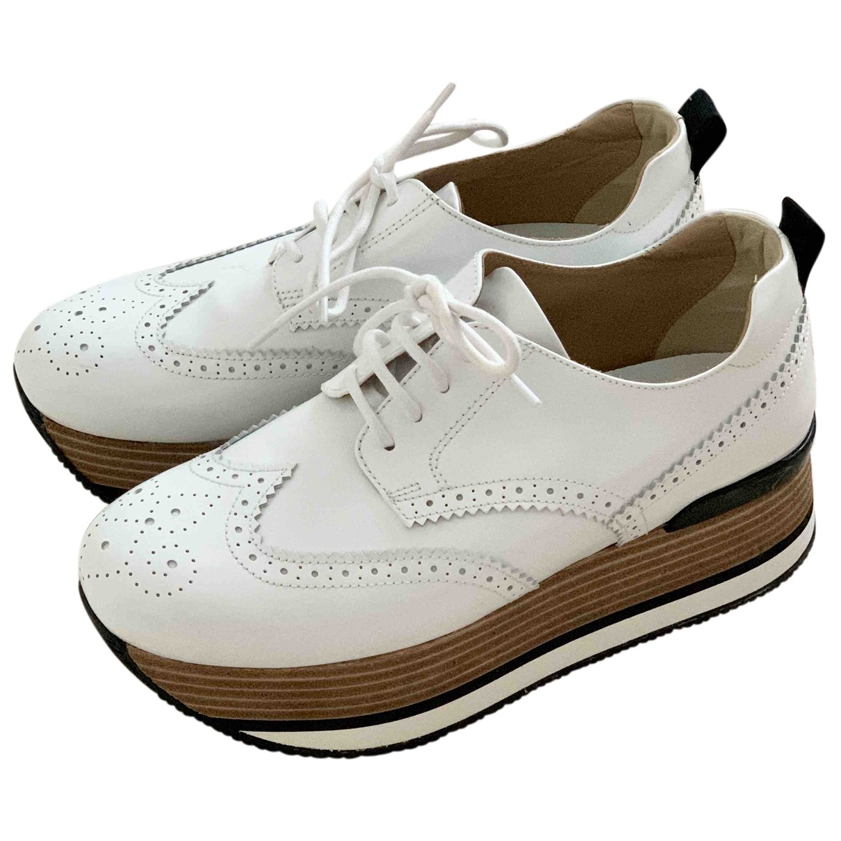 Hogan N White Patent leather Trainers for Women 38 EU