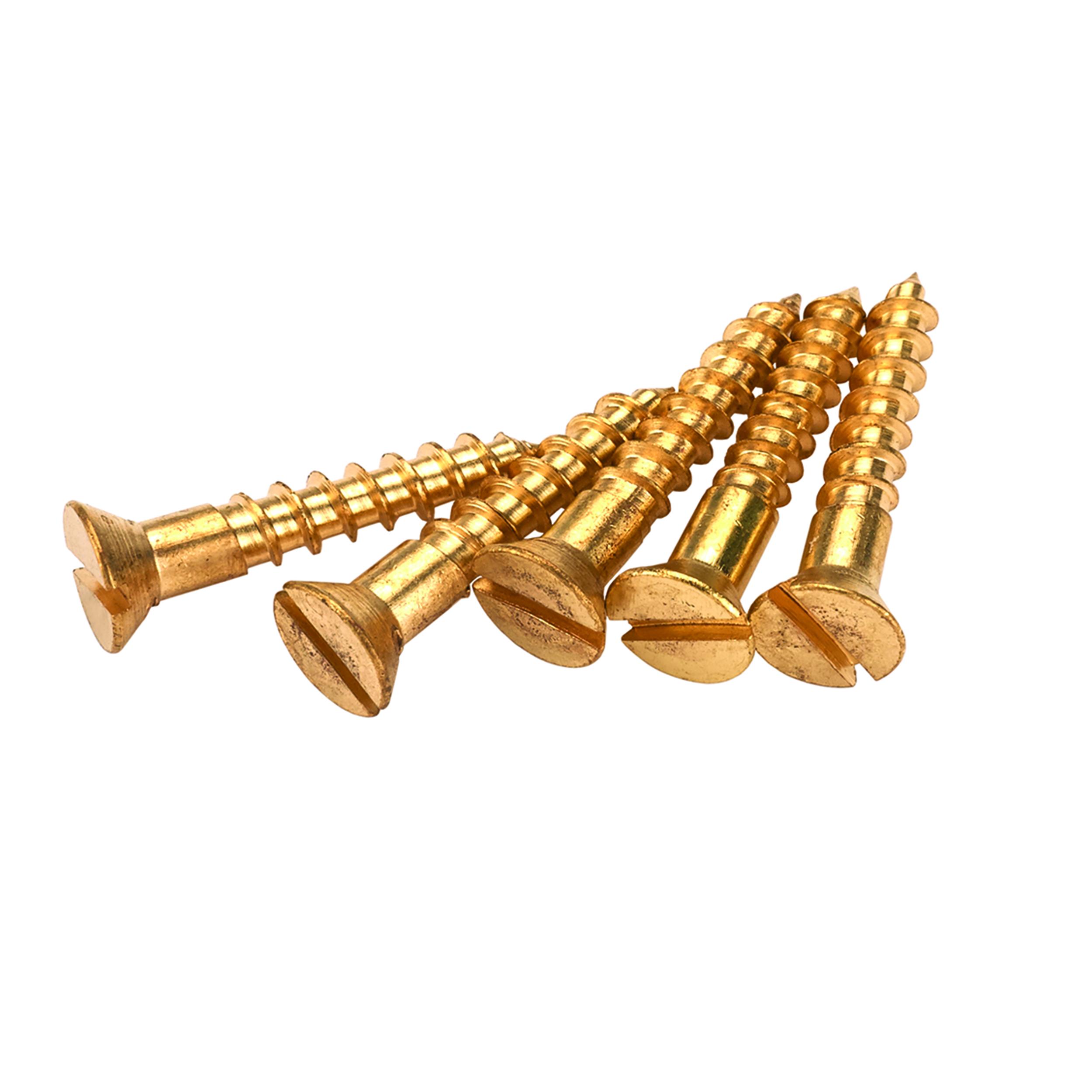 Solid Brass Screws #1 x 1/2