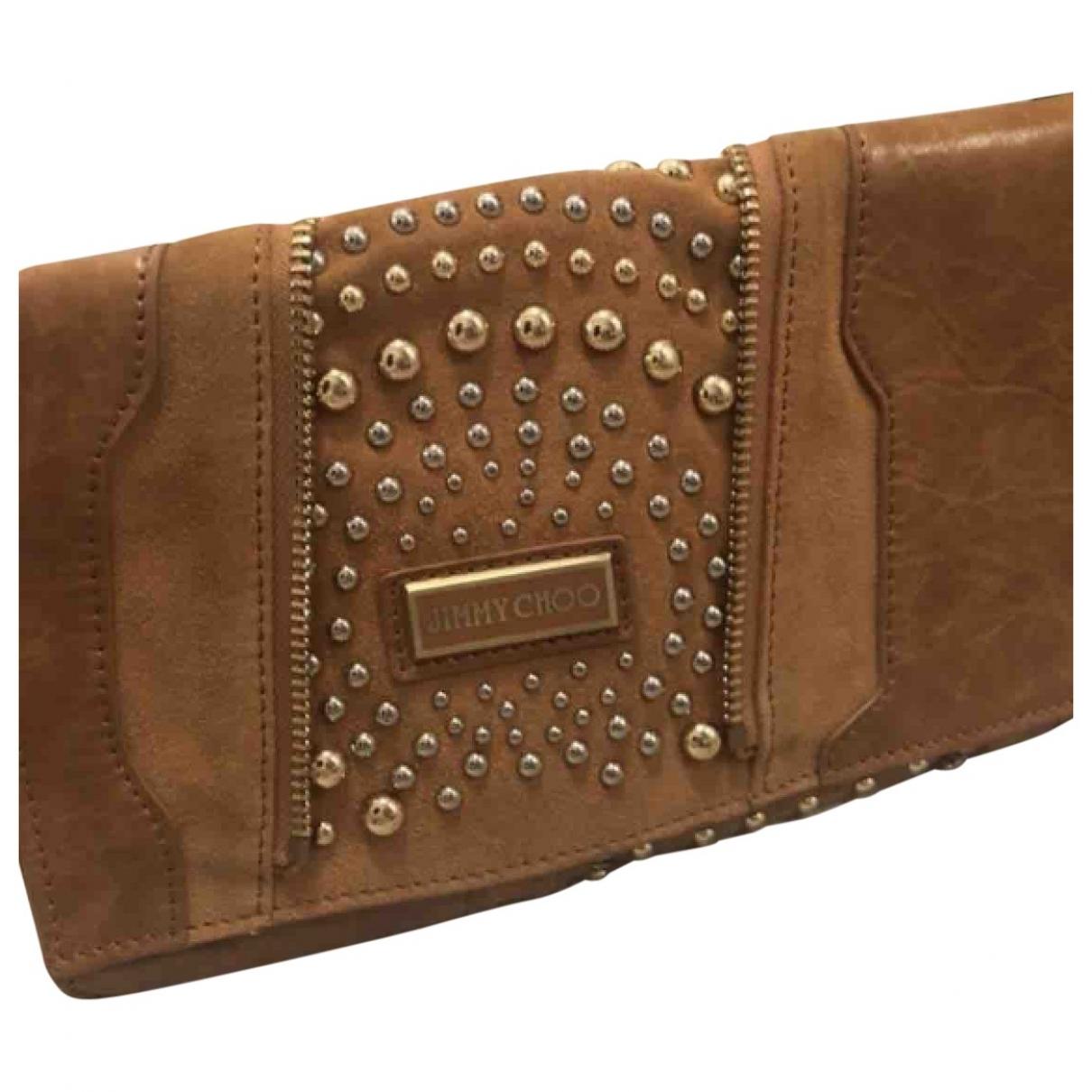 Jimmy Choo \N Handtasche in  Kamel Leder