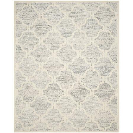 Safavieh Liz Geometric Hand Tufted Wool Rug, One Size , Gray