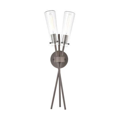 57241/2 Stix 2-Light Sconce in Bronze Rust with Seedy