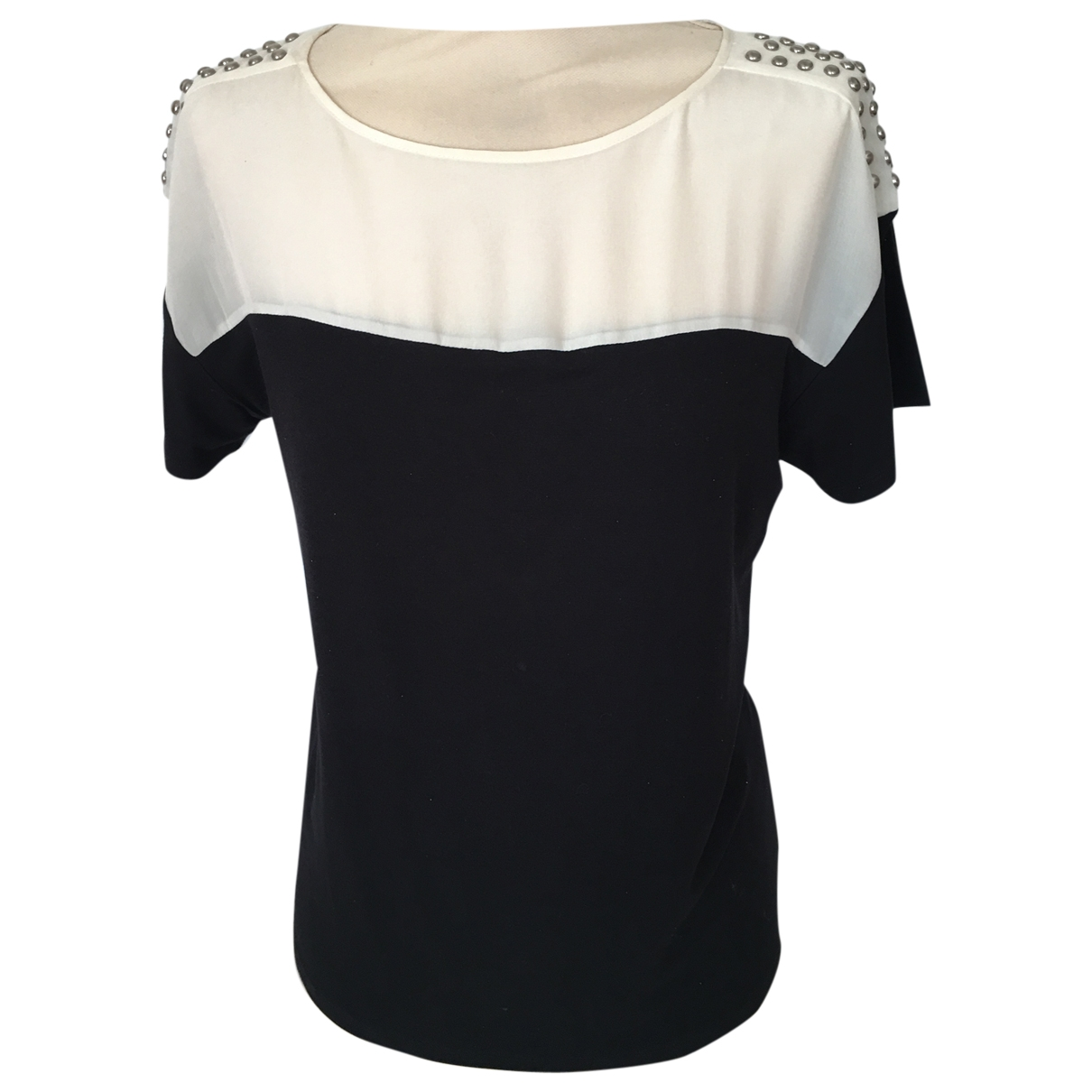 Max Mara - Top   pour femme en coton - noir
