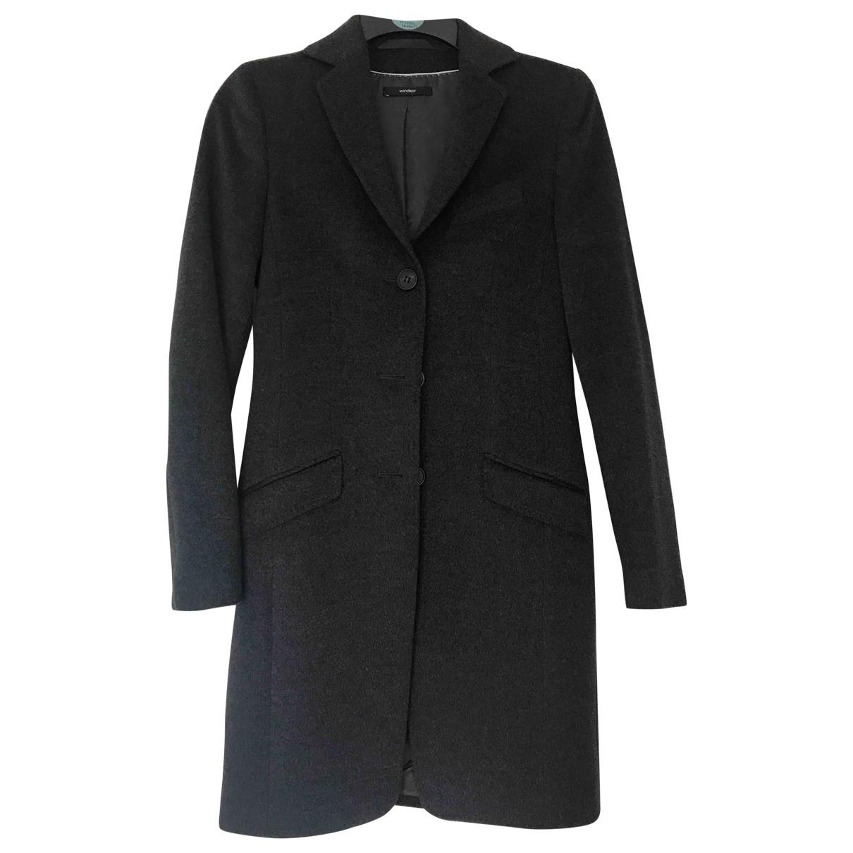 Windsor - Manteau   pour femme en laine - gris