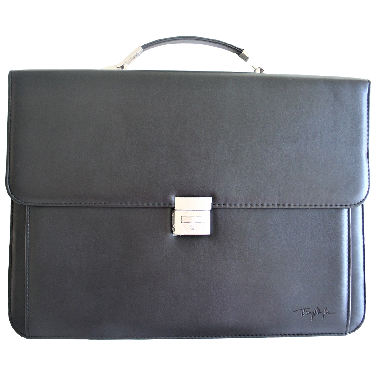 Thierry Mugler \N Handtasche in  Schwarz Synthetik