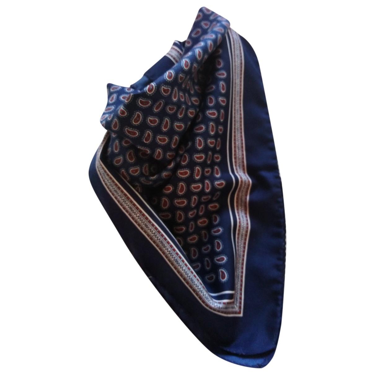 - Foulard   pour femme en soie - bleu