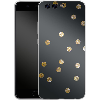 Huawei P10 Silikon Handyhuelle - Gold Dots von Khristian Howell
