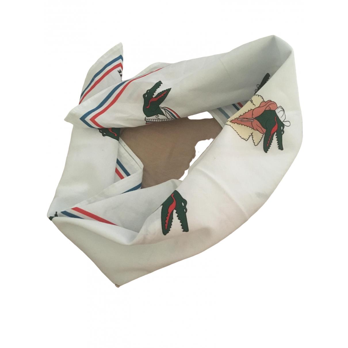 Lacoste - Carre   pour femme en coton - blanc