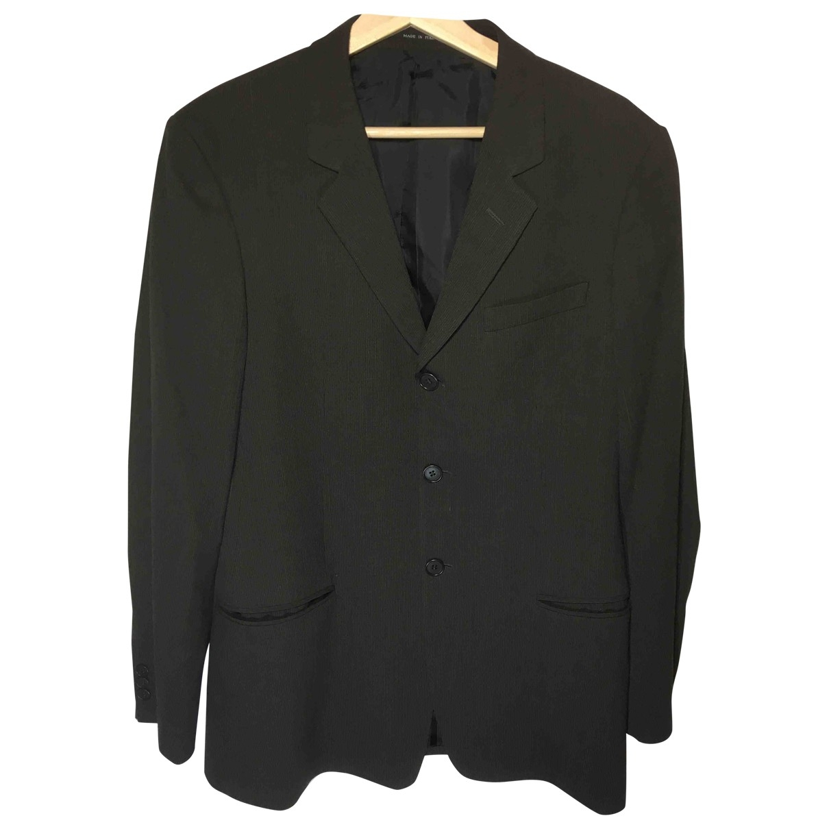 Emporio Armani \N Black Wool jacket  for Men 48 IT