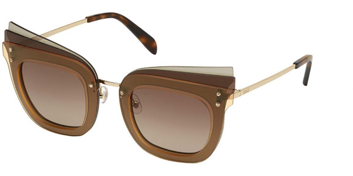 Emilio Pucci EP0105 47F Women's Sunglasses Multicolor Size 66