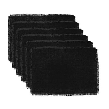 Design Imports 6-pc. Placemat, One Size , Black