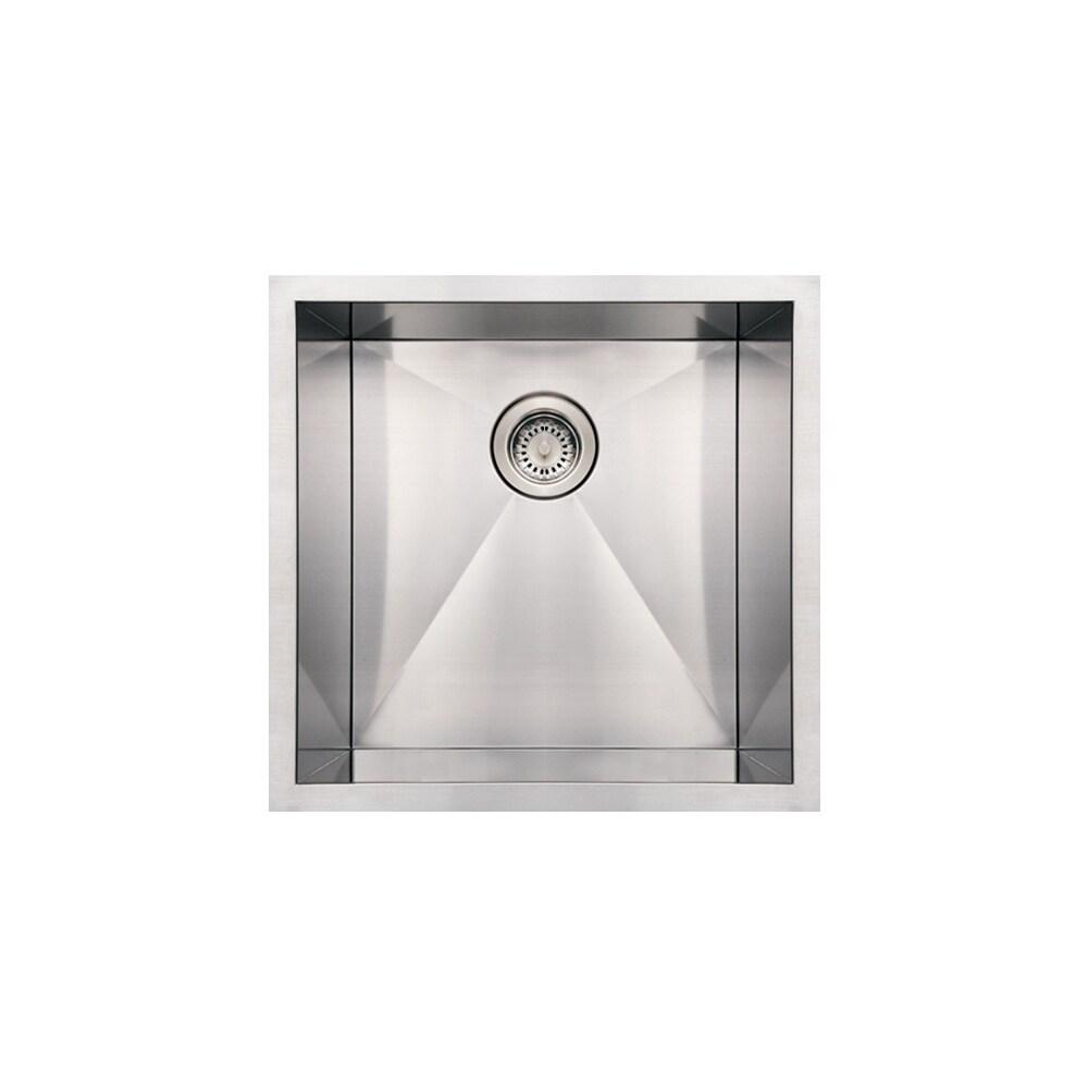 Whitehaus Collection Noah's Under mount Sink (Single Basin - Stainless Steel - Bottom Center)