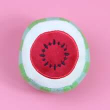 Watermelon Shaped Plush Dog Toy