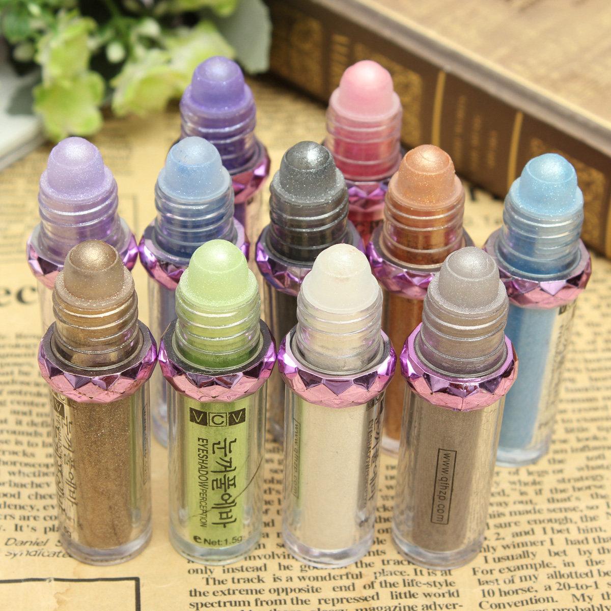 11 Colors Roller Eye Shadow Natural Luminous Warm Color Make Up Glitter Eyeshadow