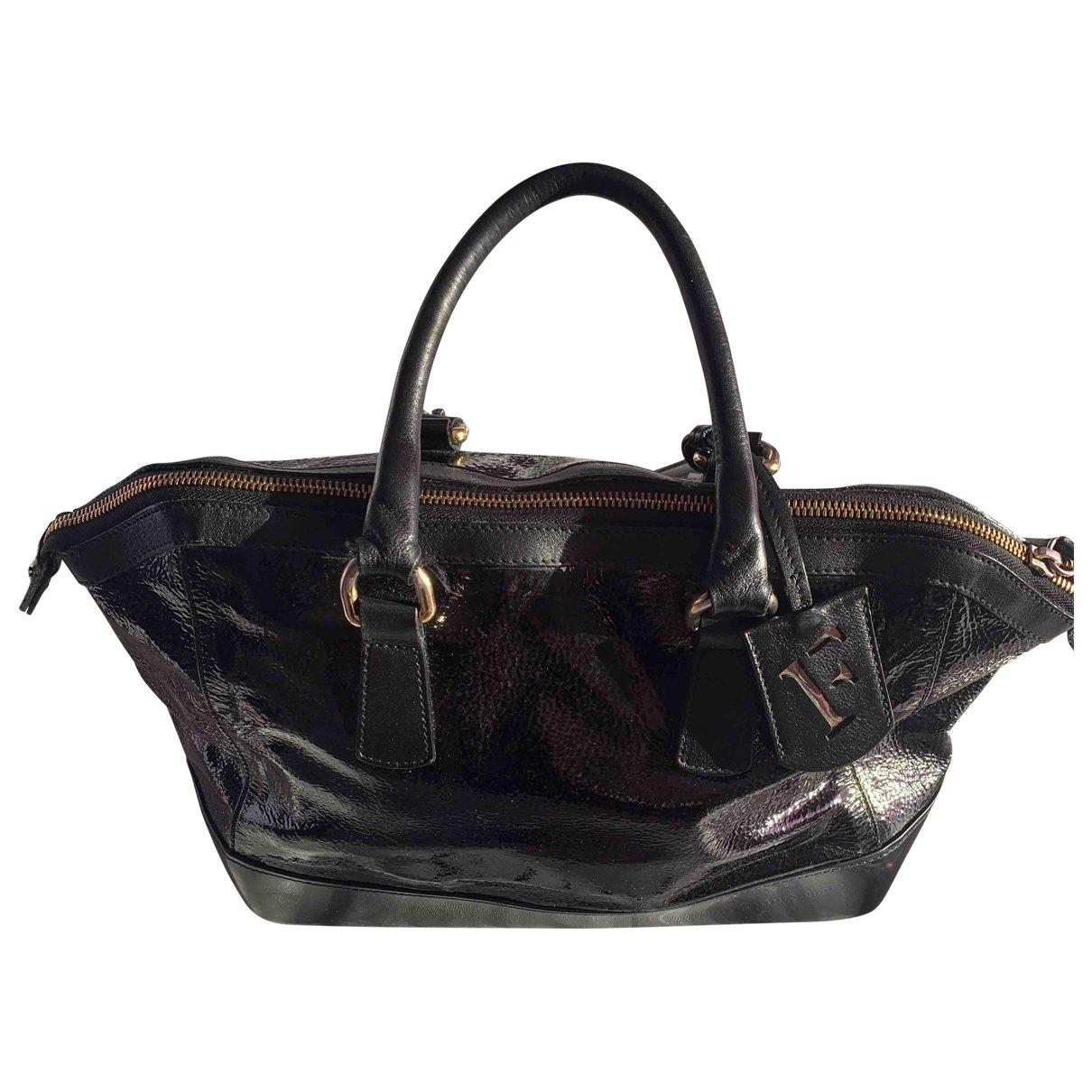 Furla \N Handtasche in  Schwarz Lackleder