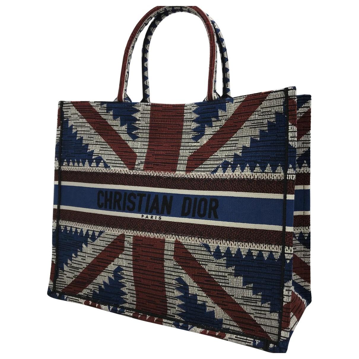 Dior Book Tote Blue Cotton handbag for Women \N
