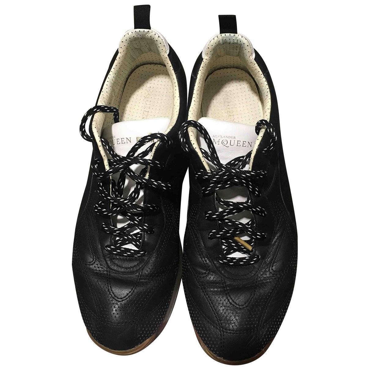 Alexander Mcqueen For Puma - Baskets   pour homme en cuir - noir