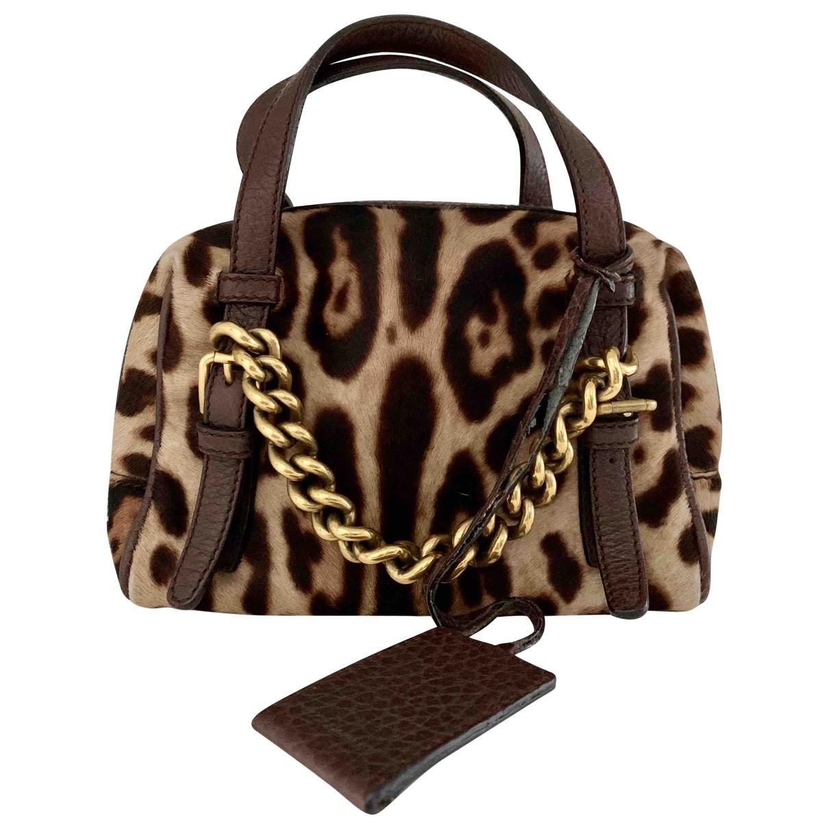 Dolce & Gabbana \N Handtasche in  Braun Kalbsleder in Pony-Optik