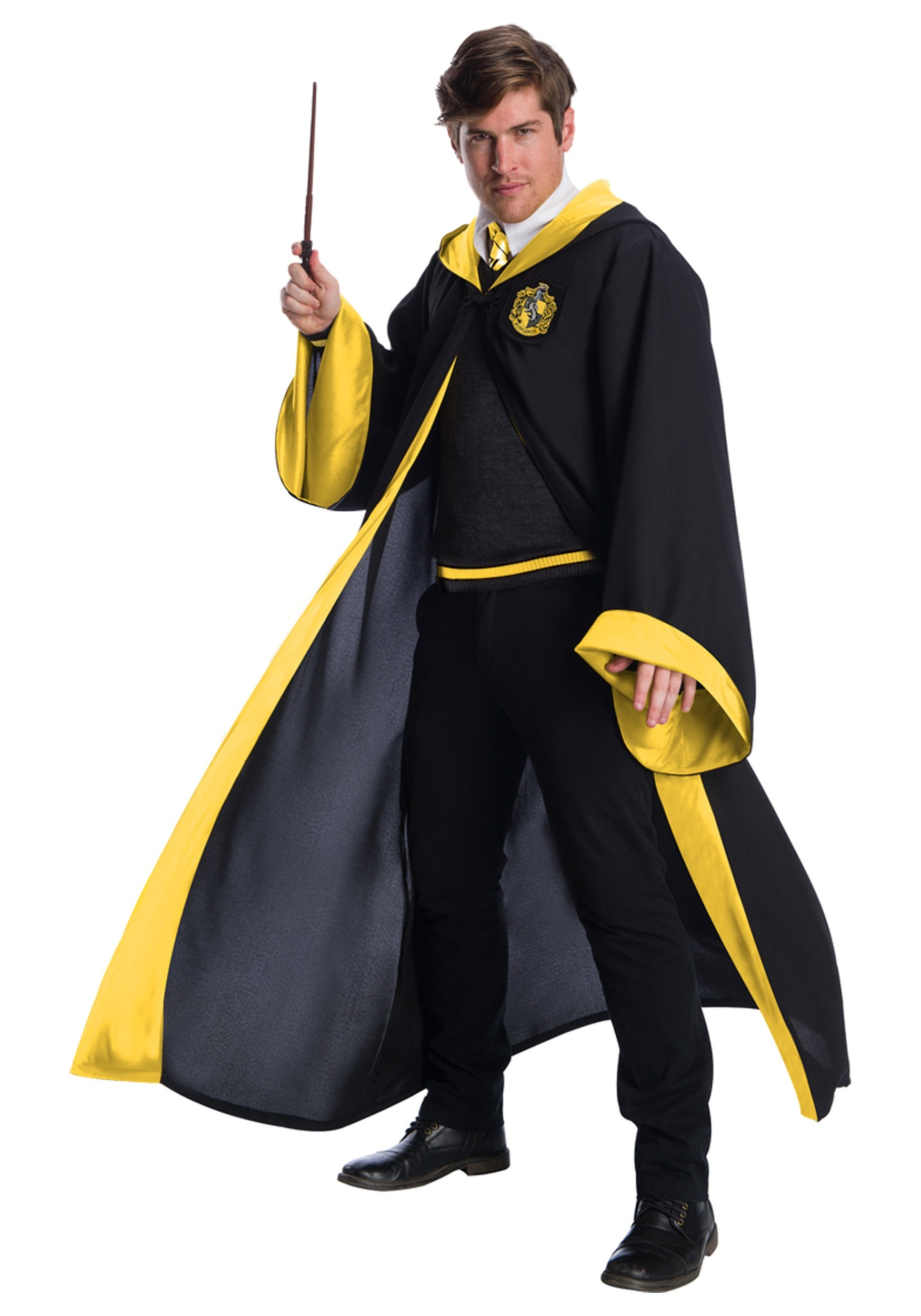 Deluxe Hufflepuff Student Costume for Adults