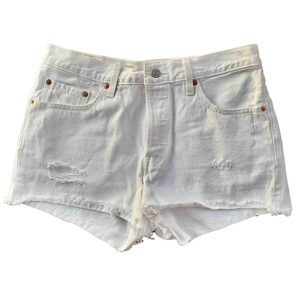 Levi's \N White Denim - Jeans Shorts for Women 10 UK