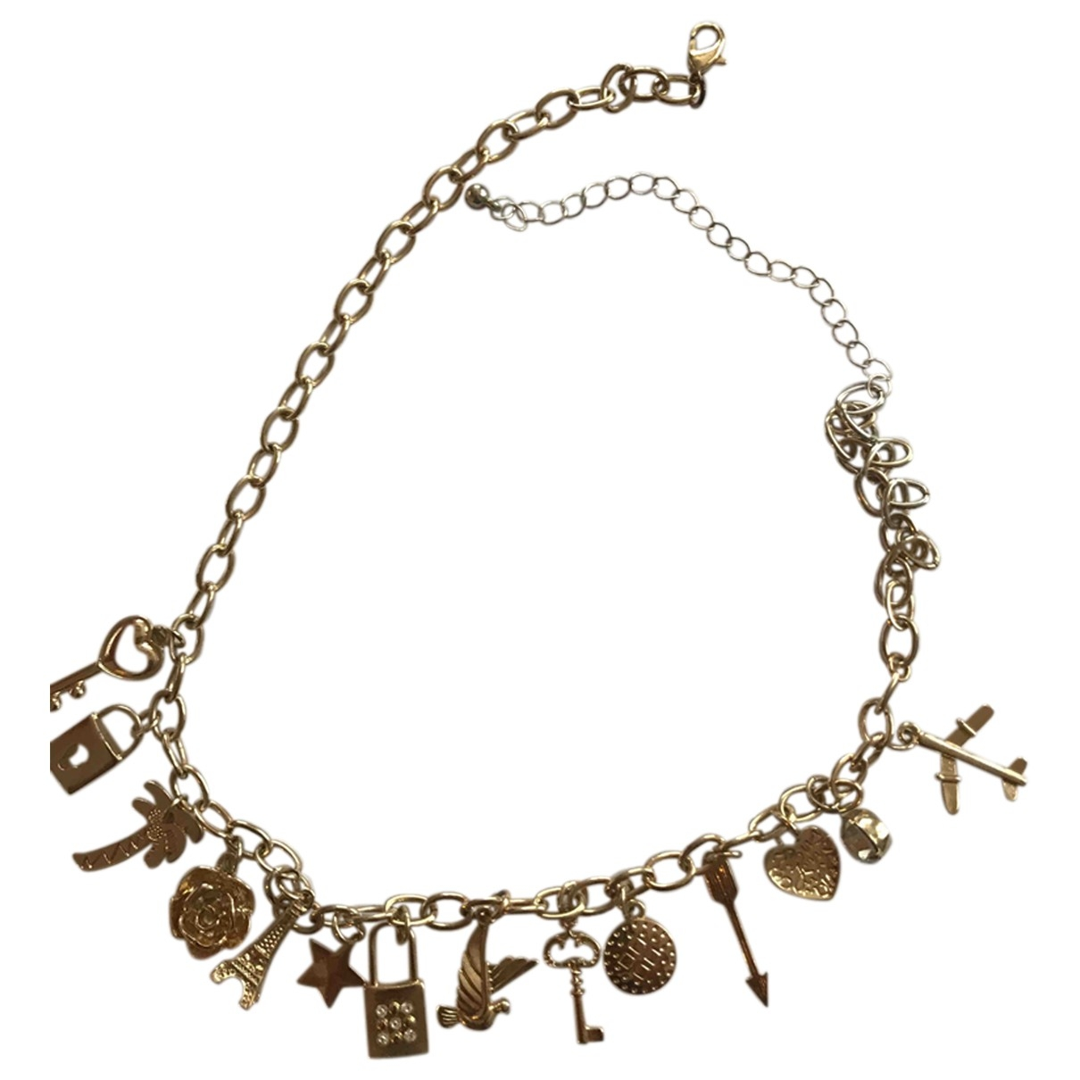 Non Signe / Unsigned \N Kette in  Gold Stahl