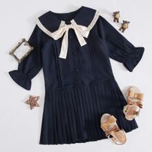 Vestidos para niña pequeña Lazo Casual