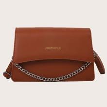 Flap Chain Satchel Bag