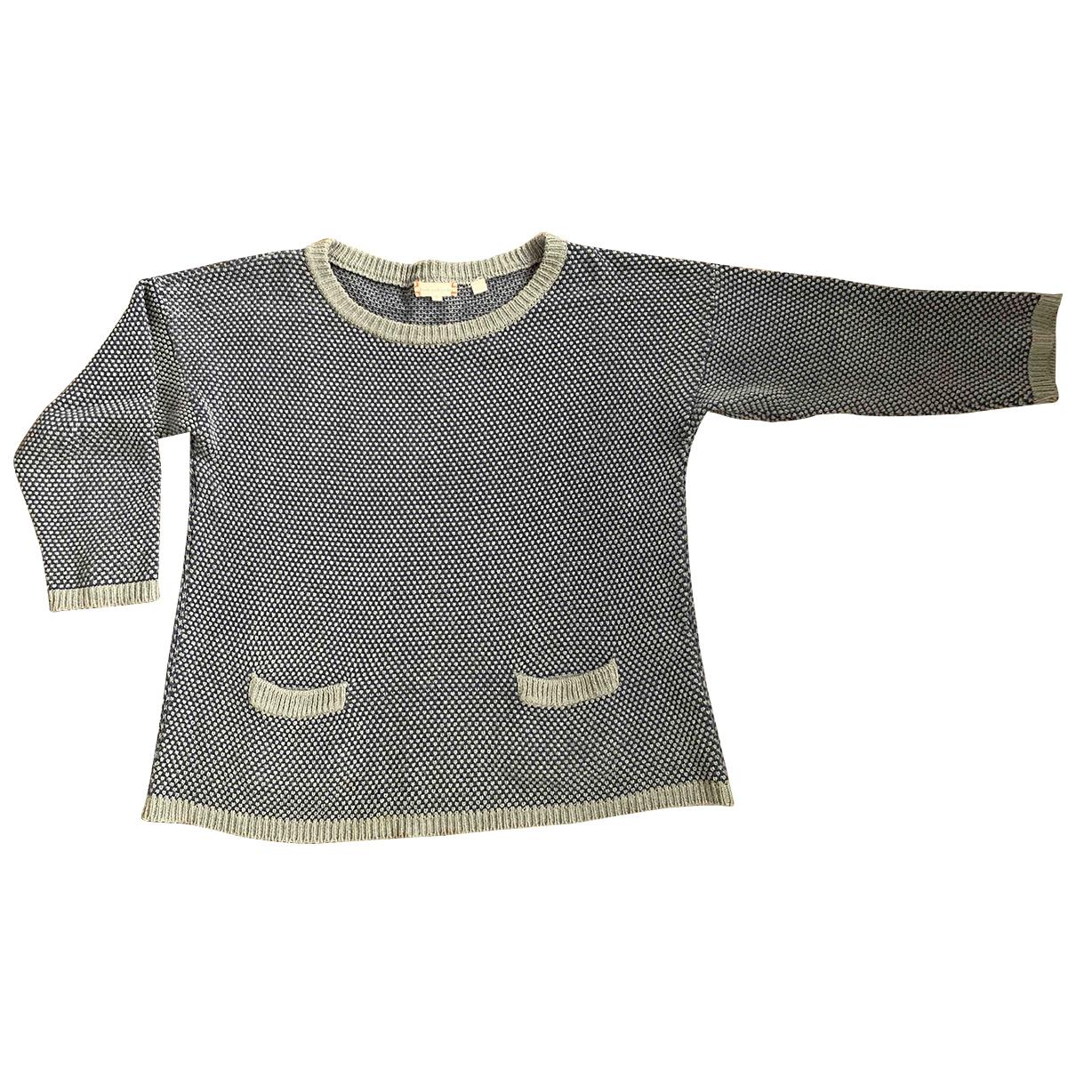 Chinti & Parker - Pull   pour femme en coton - bleu