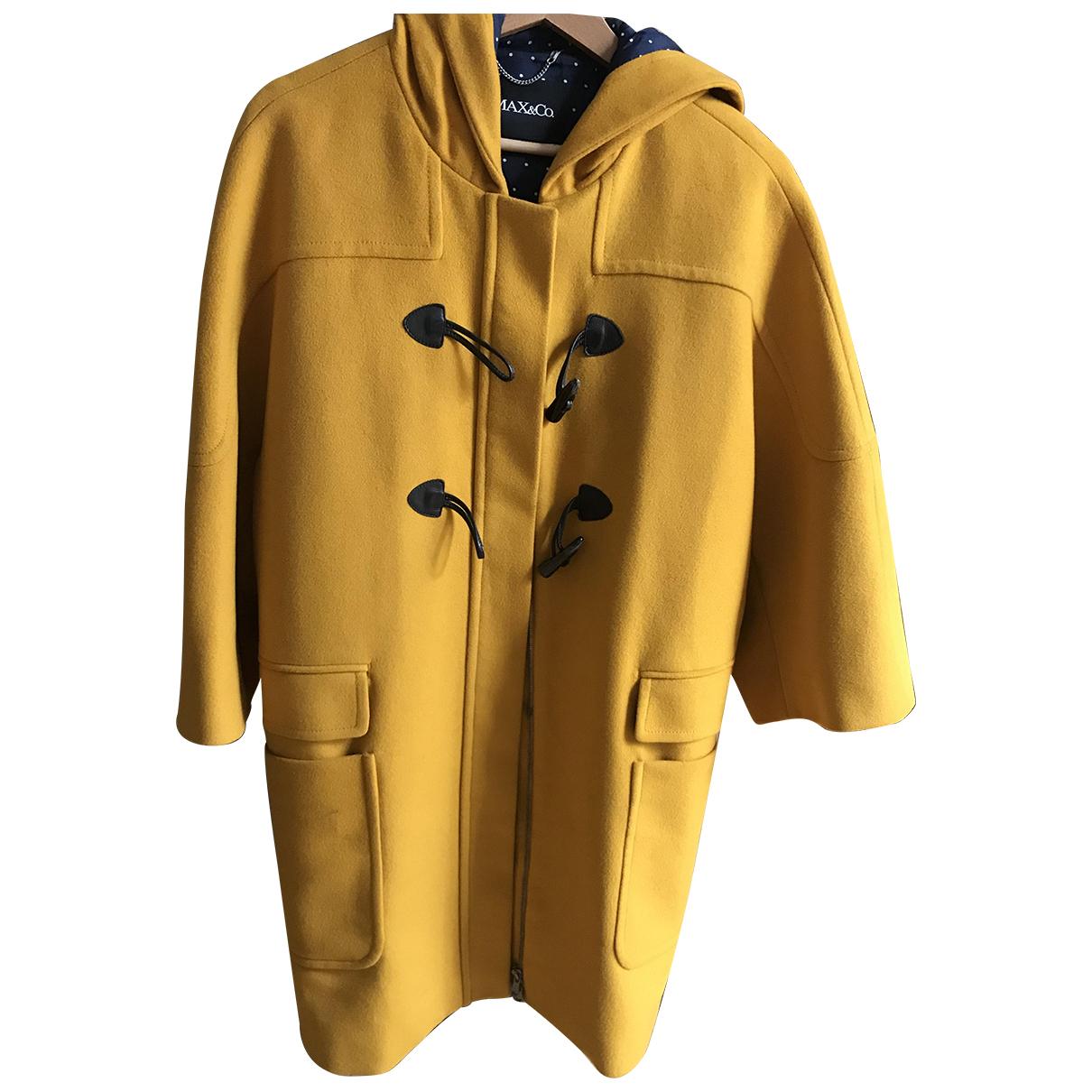 Max & Co N Yellow Wool coat for Women 46 IT