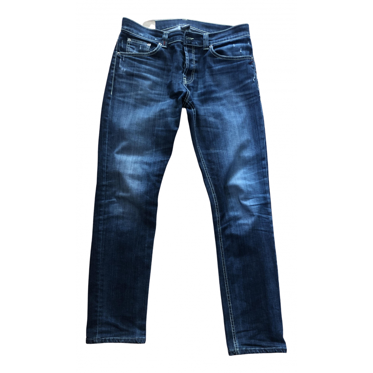 Dondup \N Blue Cotton - elasthane Jeans for Men 34 US
