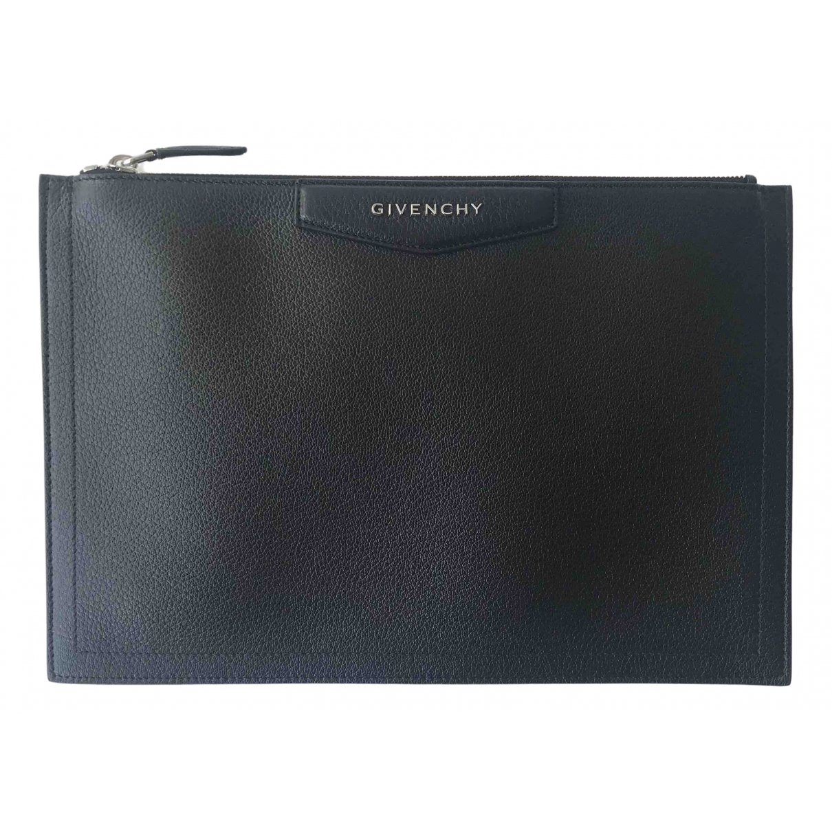 Givenchy - Pochette Antigona pour femme en cuir - noir