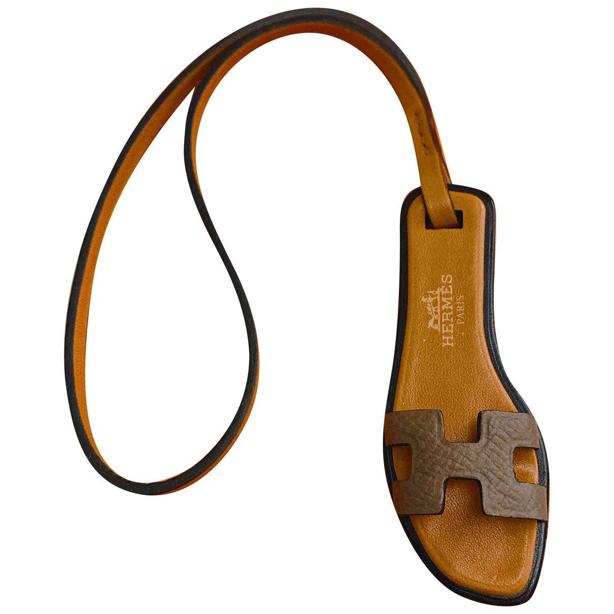 Hermès Oran Nano Charm Brown Leather Bag charms for Women \N