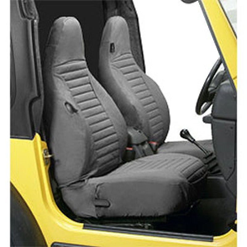 Bestop 29226-09 Charcoal/Gray Front Highback Buckets Seat Covers Jeep Wrangler TJ 1997-2002
