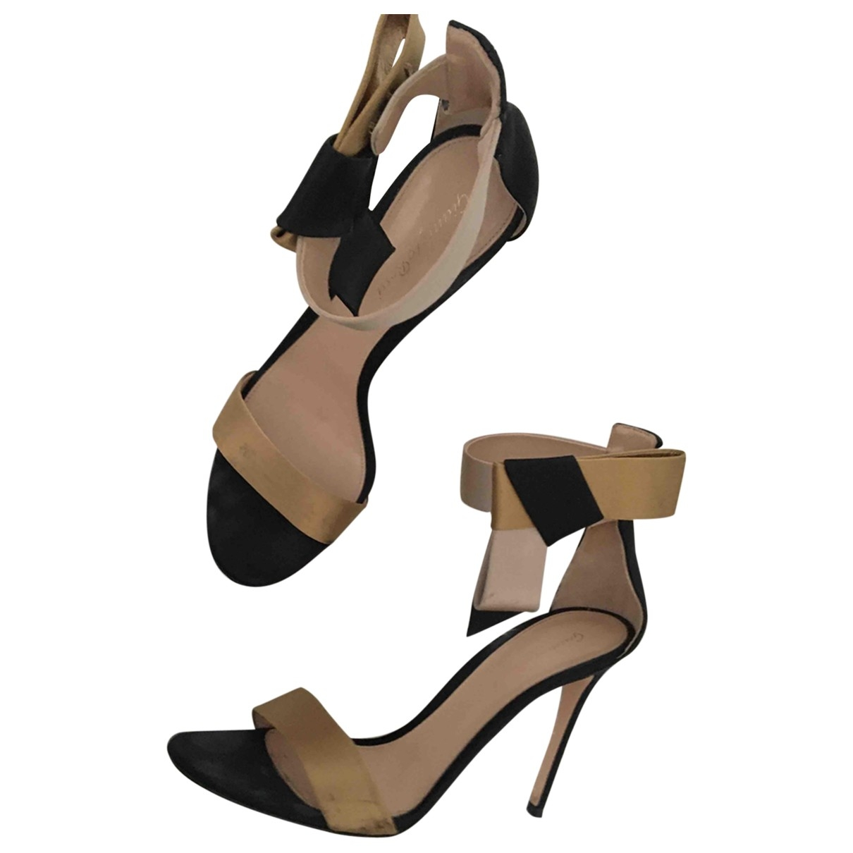 Gianvito Rossi Portofino Gold Leather Sandals for Women 39.5 IT