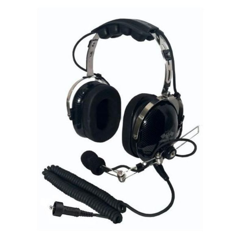 PCI Race Radios PRR5020 PCI Prerunner Over-The-Head Headset Carbon Fiber