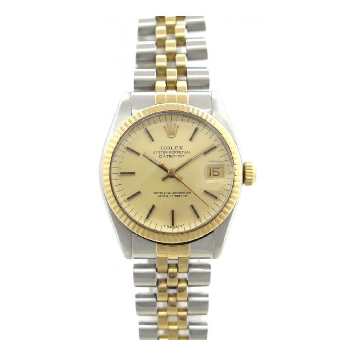 Rolex - Montre Datejust 31mm pour femme en or et acier - argente
