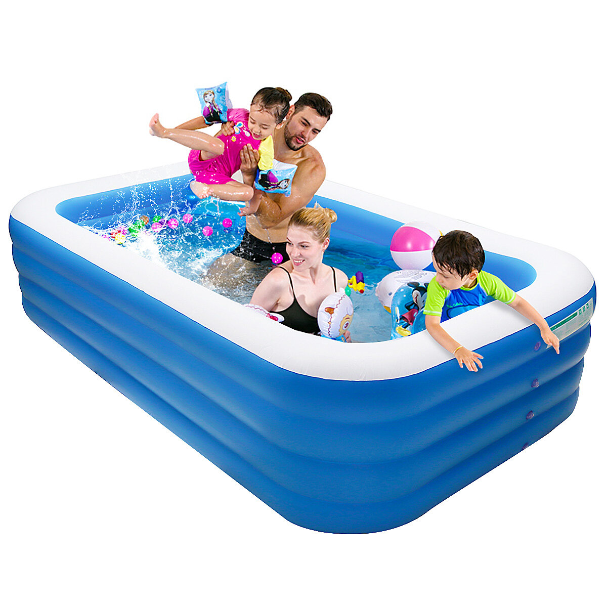 IPRee® 305*185*72cm Inflatable Swimming Pool Outdoor Garden Swimming Pool Portable Inflatable Pool