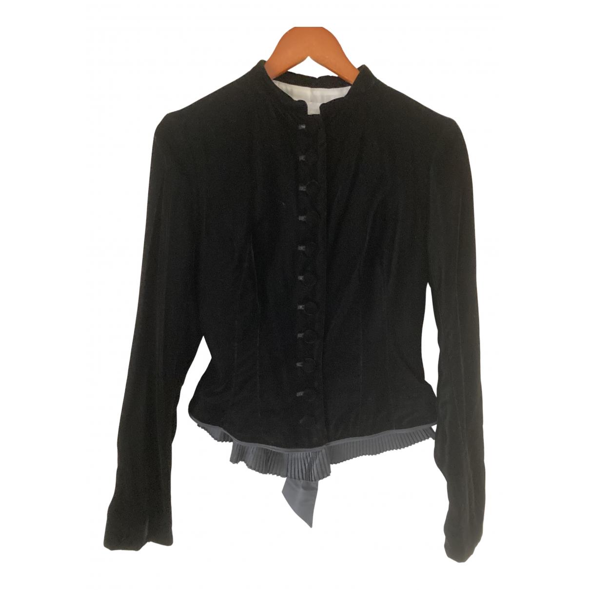 Nicole Farhi \N Black Velvet jacket for Women 10 UK